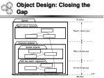 object design closing the gap