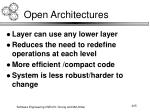 open architectures