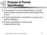 purpose of formal specification