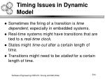 timing issues in dynamic model