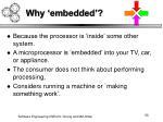 why embedded