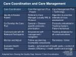 care coordination and care management