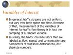 variables of interest