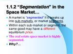1 1 2 segmentation in the space market