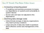 key it trends that raise ethics issues