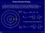 photon emission energy