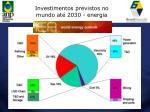 investimentos previstos no mundo at 2030 energia