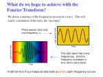 what do we hope to achieve with the fourier transform