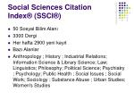 social sciences citation index ssci