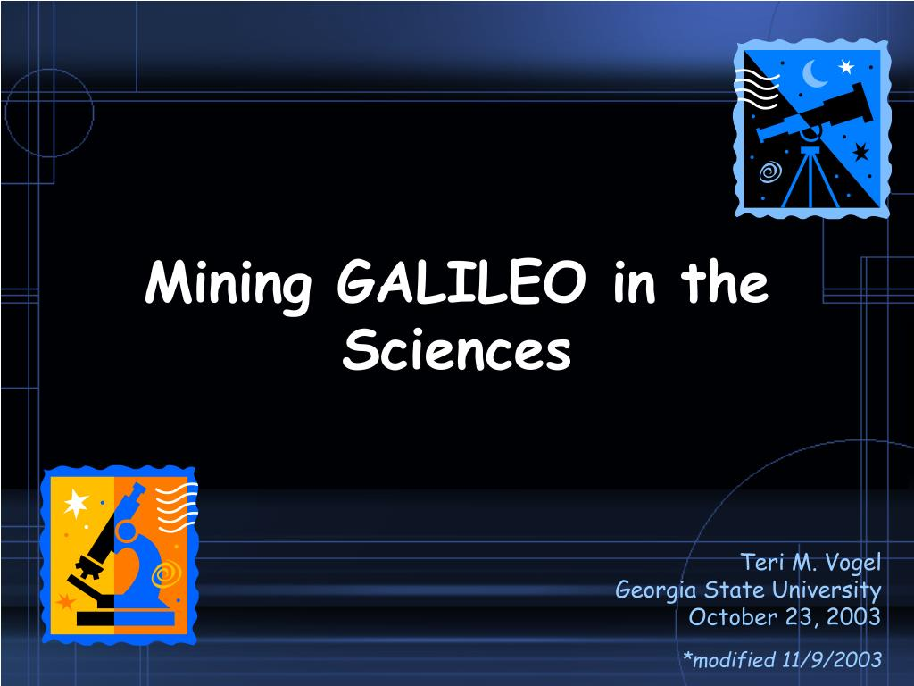 mining galileo in the sciences l.
