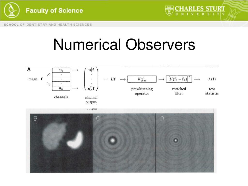 Numerical Observers