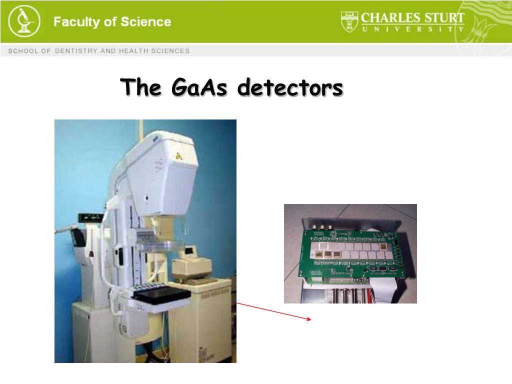 The GaAs detectors