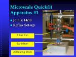 microscale quickfit apparatus 1