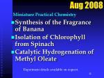 miniature practical chemistry