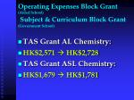 operating expenses block grant aided school subject curriculum block grant government school