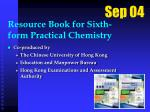 resource book for sixth form practical chemistry