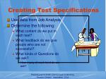 creating test specifications