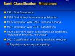 banff classification milestones
