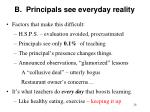 b principals see everyday reality