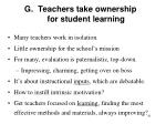 g teachers take ownership for student learning
