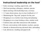 instructional leadership on the hoof