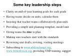 some key leadership steps