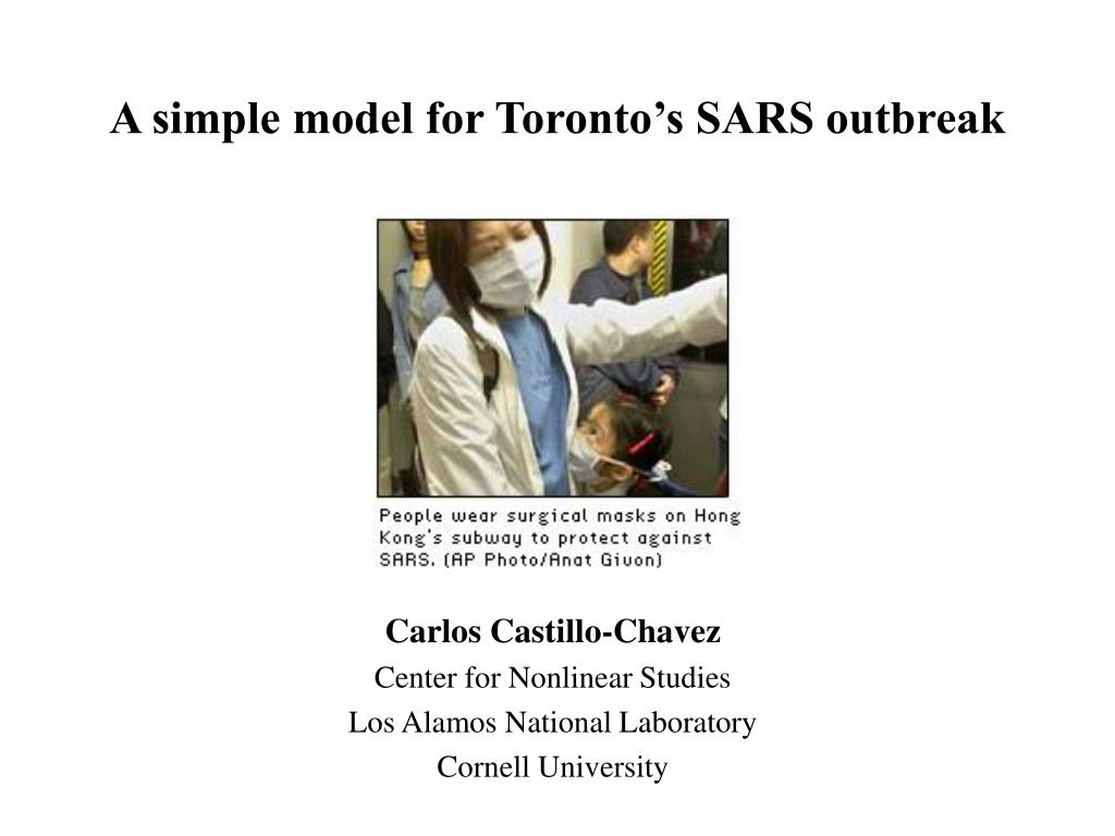 a simple model for toronto s sars outbreak l.