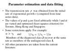 parameter estimation and data fitting
