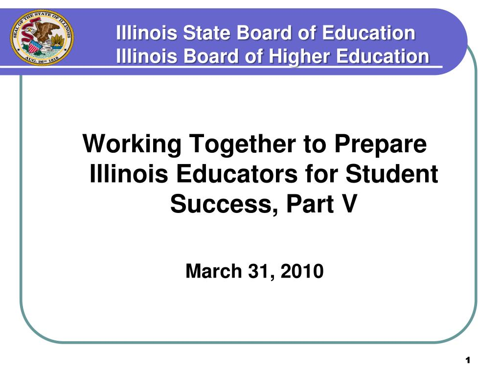 illinois state board of education illinois board of higher education l.
