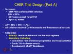cher trial design part a