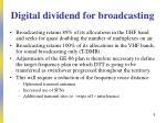 digital dividend for broadcasting
