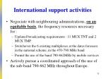 international support activities