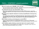 faq s content related questions
