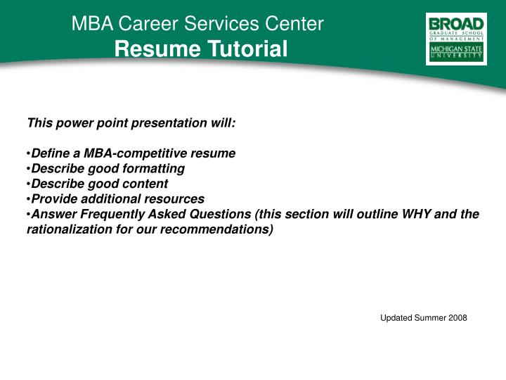 ppt this power point presentation will define a mba competitive - Competitive Resume