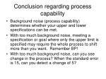 conclusion regarding process capability