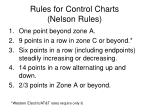 rules for control charts nelson rules