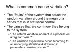 what is common cause variation