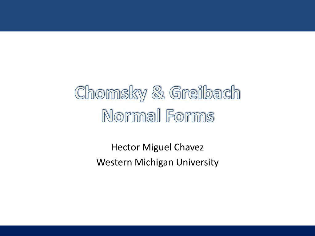 chomsky greibach normal forms l.