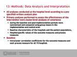 13 methods data analysis and interpretation