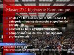 master 272 ing nierie economique