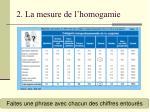 2 la mesure de l homogamie