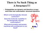 there is no such thing as a structure