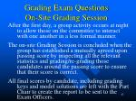 grading exam questions on site grading session42
