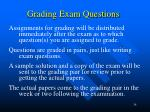 grading exam questions