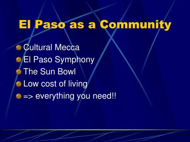El paso as a community