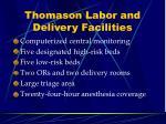 thomason labor and delivery facilities