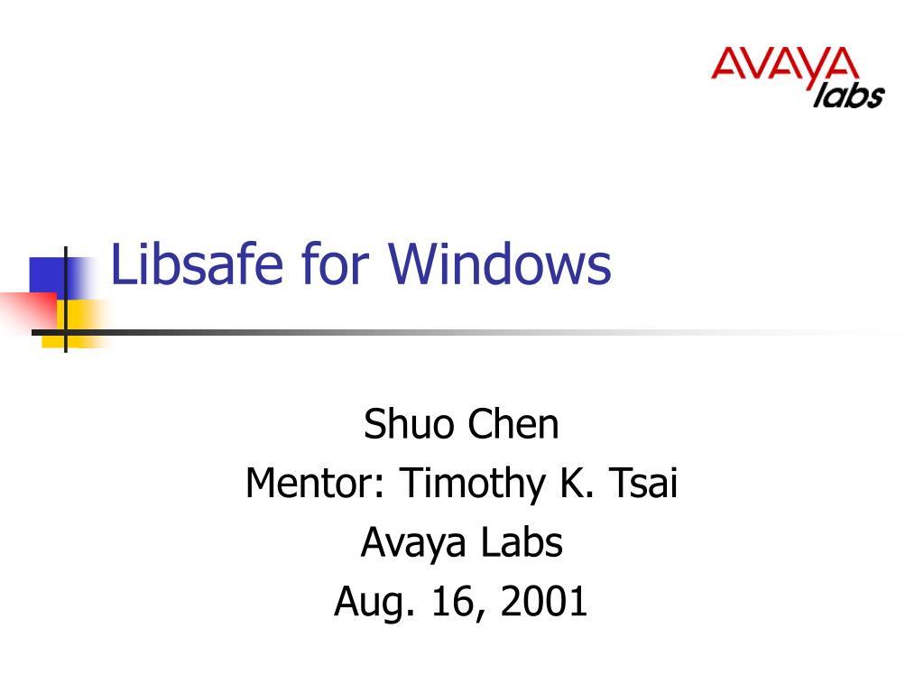 libsafe for windows l.