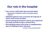our role in the hospital