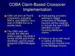 coba claim based crossover implementation