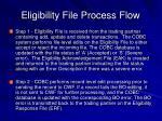 eligibility file process flow